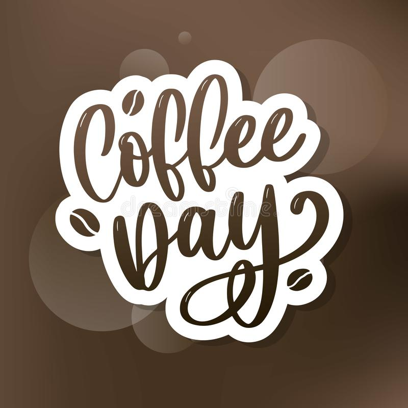 1 October International coffee day Logo. World Coffee day Logo Icon vector illustration on white background. 1 October International coffee day Logo. World royalty free illustration