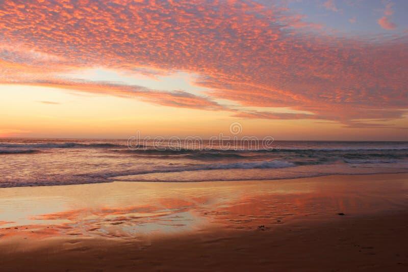 Thailand sunset Karon beach royalty free stock photography