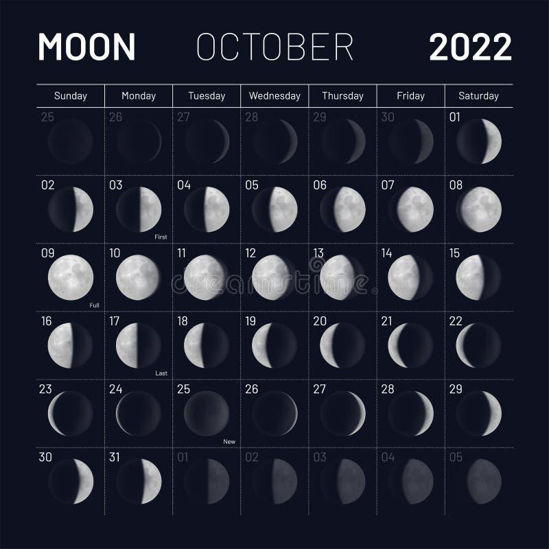 Moon Calendar October 2022.Calendar Moon Template Stock Illustrations 1 247 Calendar Moon Template Stock Illustrations Vectors Clipart Dreamstime