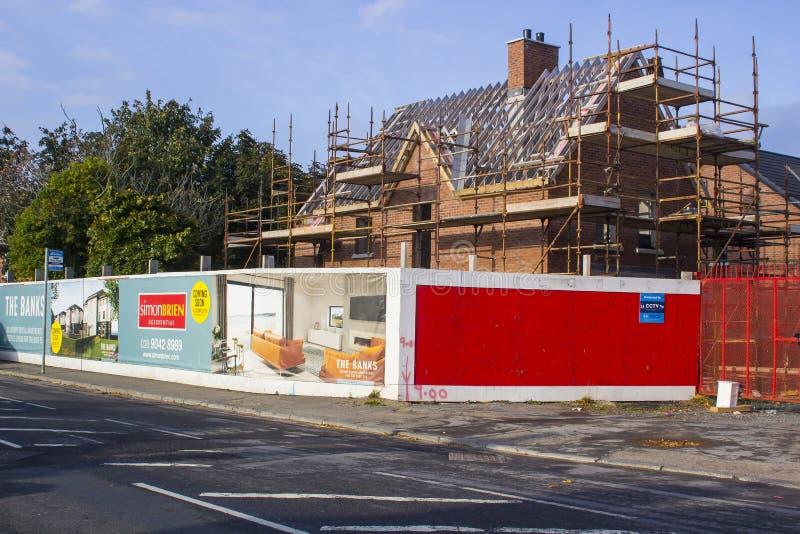 A luxury building development site in Ballyholme, Bangor County Down stock image