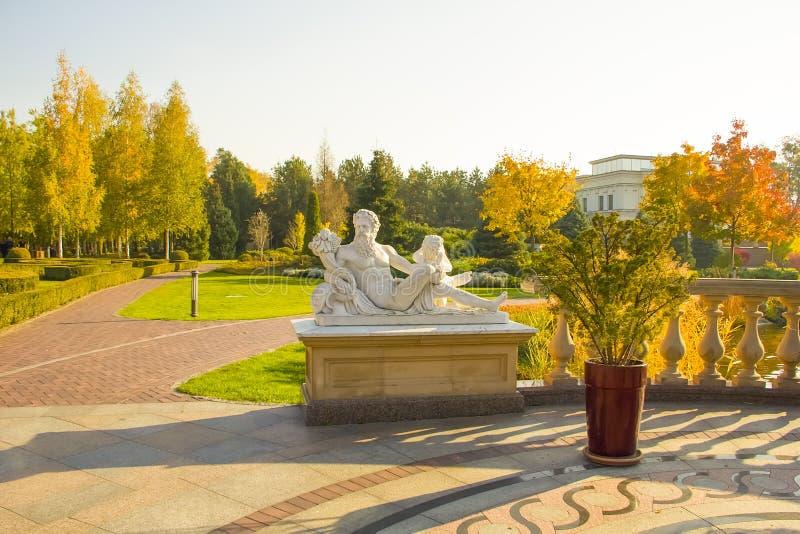 October 10, 2018 Mezhyhirya Kiev region, view Ukraine architecture landmark residence of ex-president Ukraine stock images