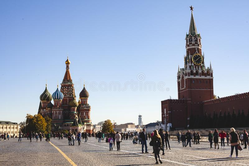 October 11, 2018. Moscow Red Square stock image