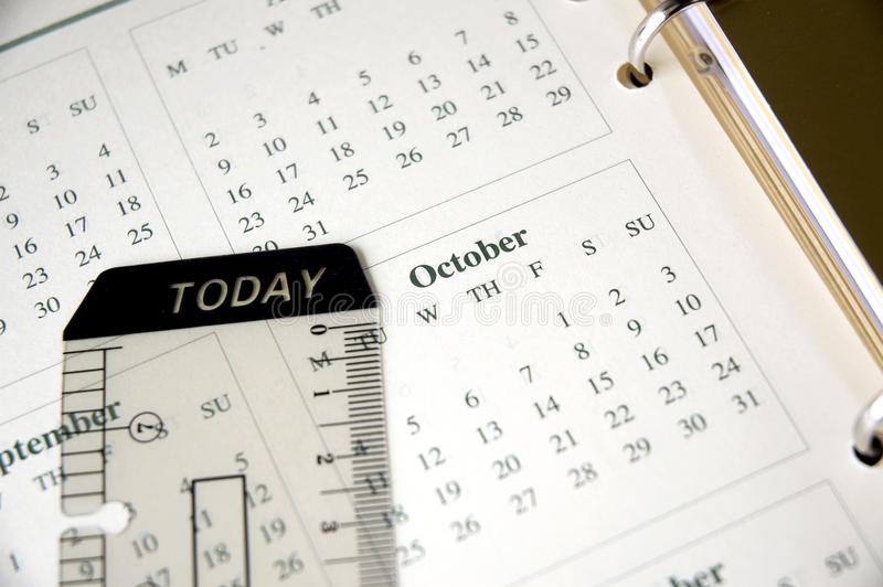 Download October On Planner Stock Photo - Image: 41755660