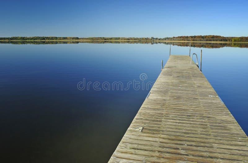 October's lake landscape stock image
