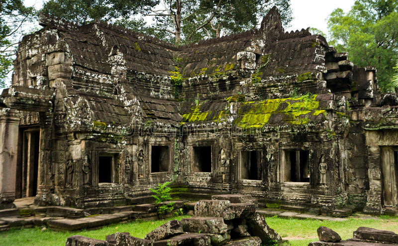 October 08, 2016 - Siem Reap, Cambodia: Banteay Kdei Temple, Buddhist temple in Angkor, Cambodia, Asia royalty free stock photos