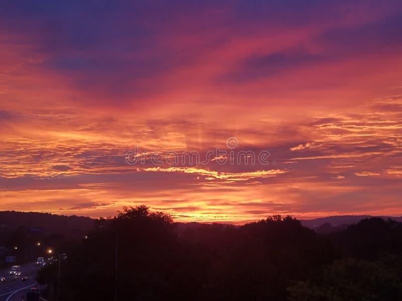 October sunrise royalty free stock photography