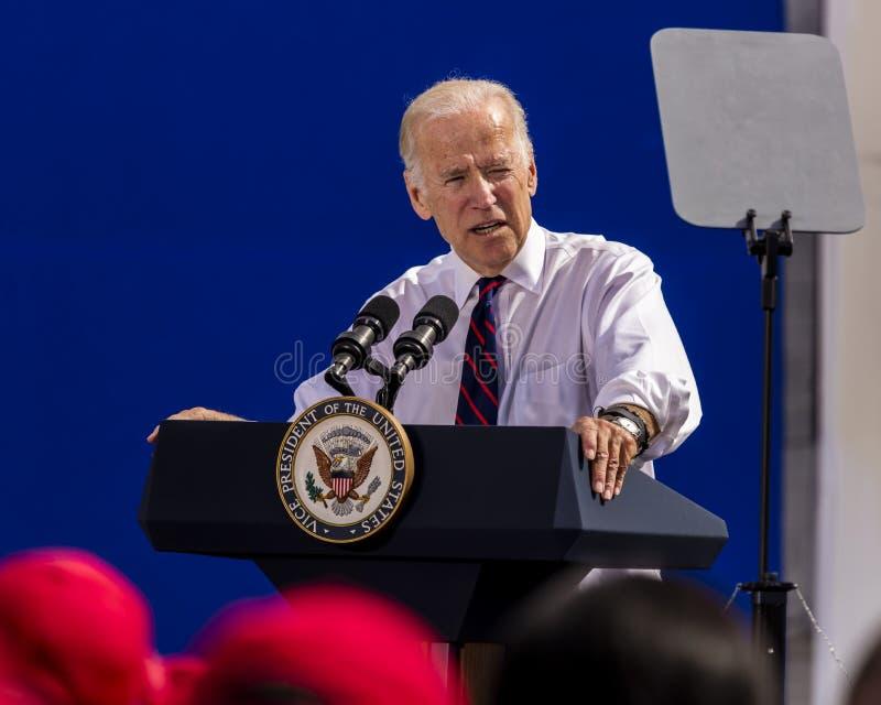 OCTOBER 13, 2016: Vice President Joe Biden campaigns for Nevada Democratic U.S. Senate candidate Catherine Cortez Masto and presid stock image