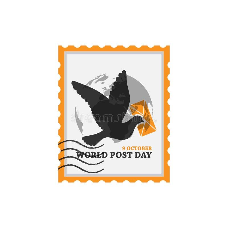 9 october world post day vector design image stock illustration