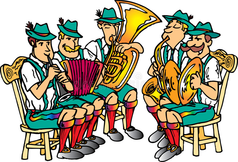 Octoberfest Band royalty free stock photos