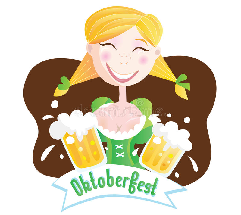 Octoberfest (Bavarian girl) stock illustration