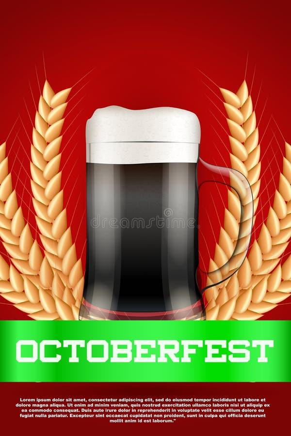Octoberfest beer poster stock illustration