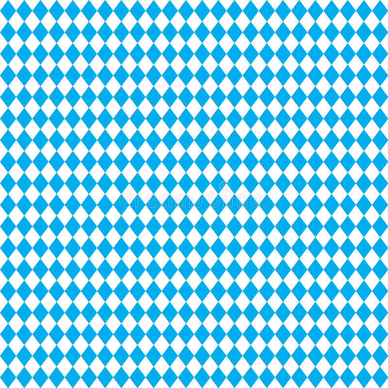 Oktoberfest blue pattern Bavarian flag geometric blue seamless background wallpaper sign vector illustration