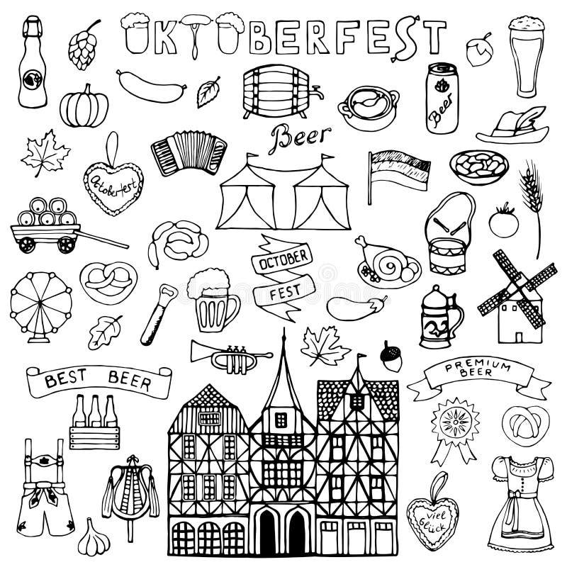 Octoberfest hand drawn doodle vector illustration