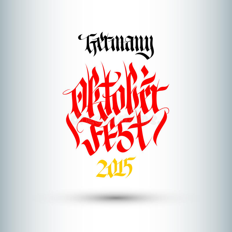 Octoberfest. Holiday Vector Illustration With Lettering Composition. royalty free illustration