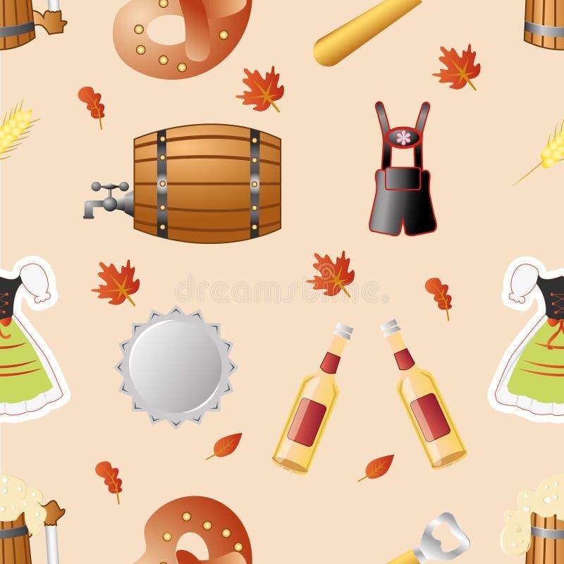 Octoberfest seamless pattern vector royalty free illustration