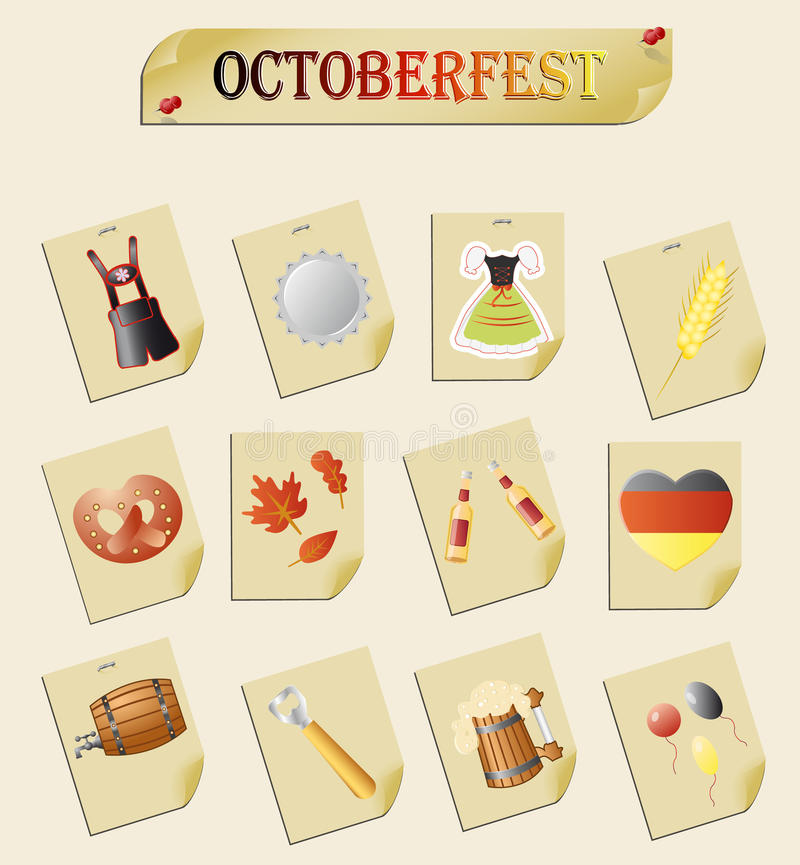 Download Octoberfest stock vector. Image of notes, dress, beer - 33595203