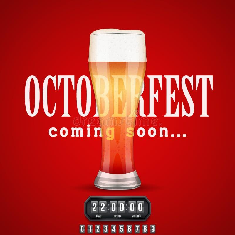 Octoberfest venant bientôt affiche illustration libre de droits