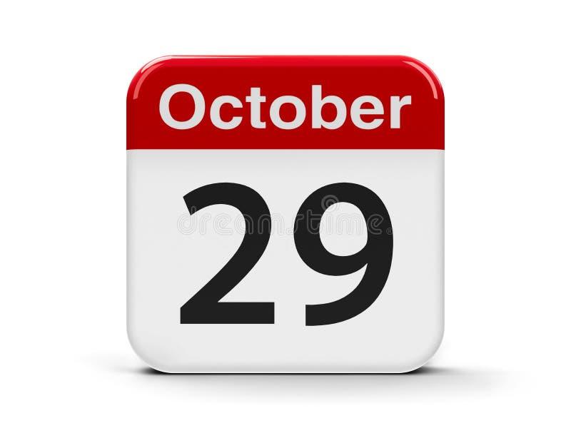 29 octobre illustration stock