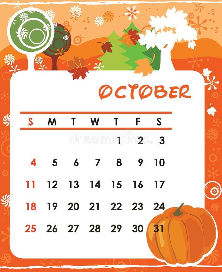 Octobre illustration stock