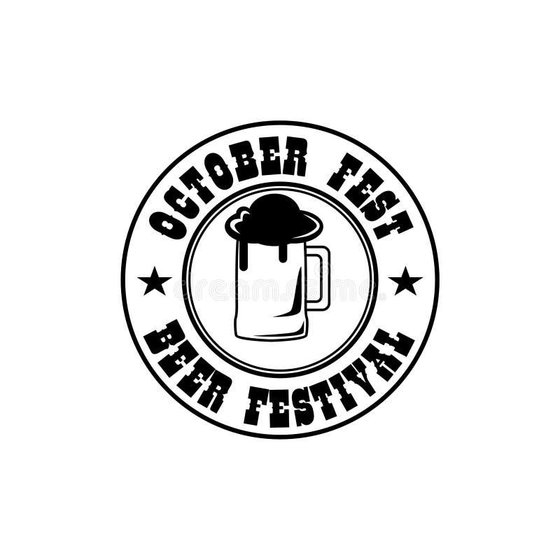 Octobre brassent l'insigne de Fest illustration libre de droits