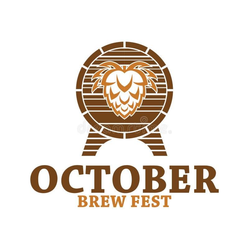 Octobre brassent le logo de Fest illustration stock