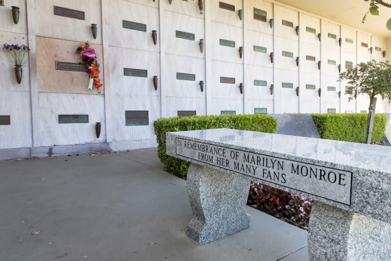 25 octobre crypte du ` s Monroe de Marilyn photographie stock