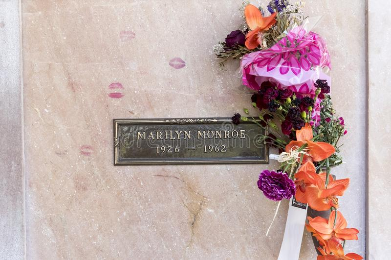 25 octobre crypte du ` s Monroe de Marilyn photo stock