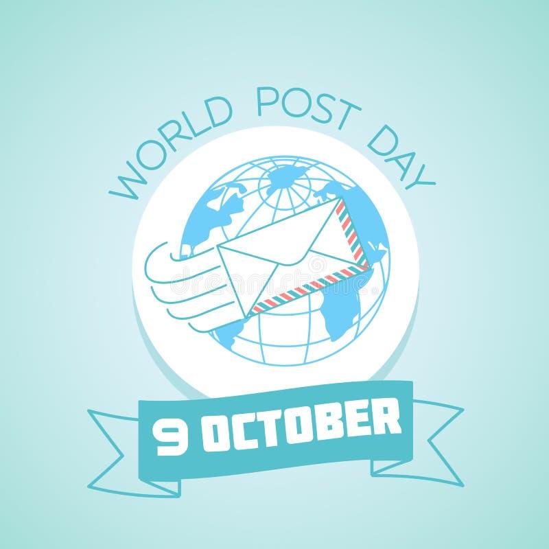 9 octobre jour de courrier du monde illustration libre de droits