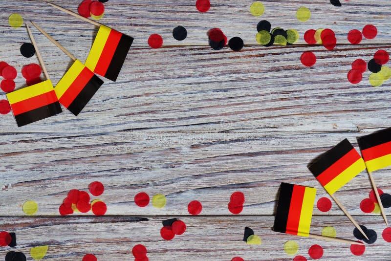 3 octobre, Jour de la Déclaration d'Indépendance allemand heureux le concept du patriotisme, de la liberté et de l'indépendance M photos libres de droits