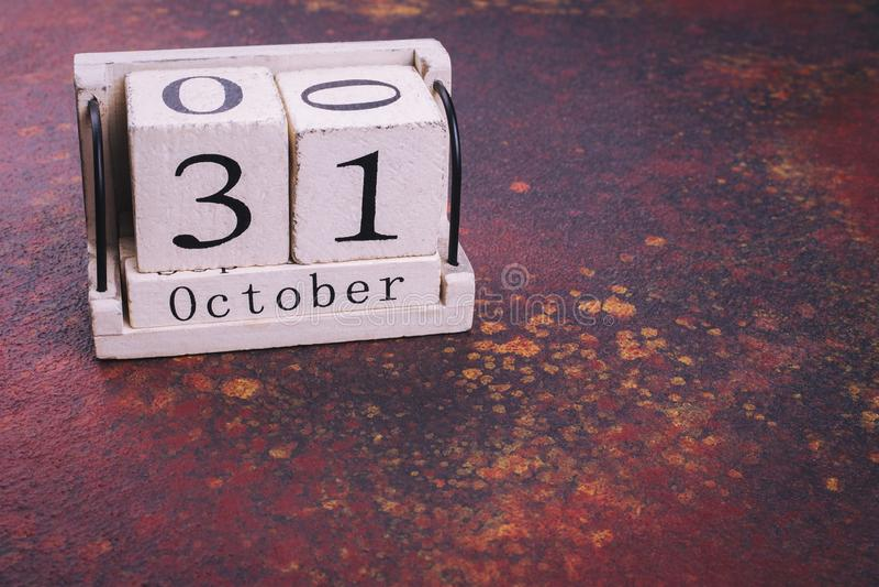 31 octobre sur le calendrier, endroit pour le texte image stock