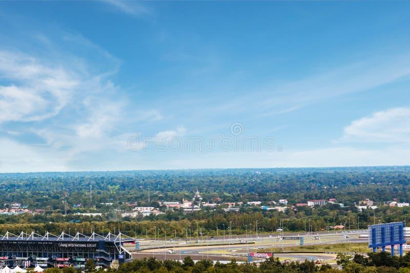 6 octobre 2016, vue de paysage de Chang International Circuit, la voie de course de sport automobile dans la province de Buriram, photos stock