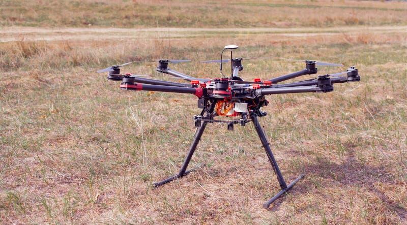 Octocopter, вертолет, трутень стоковое изображение rf