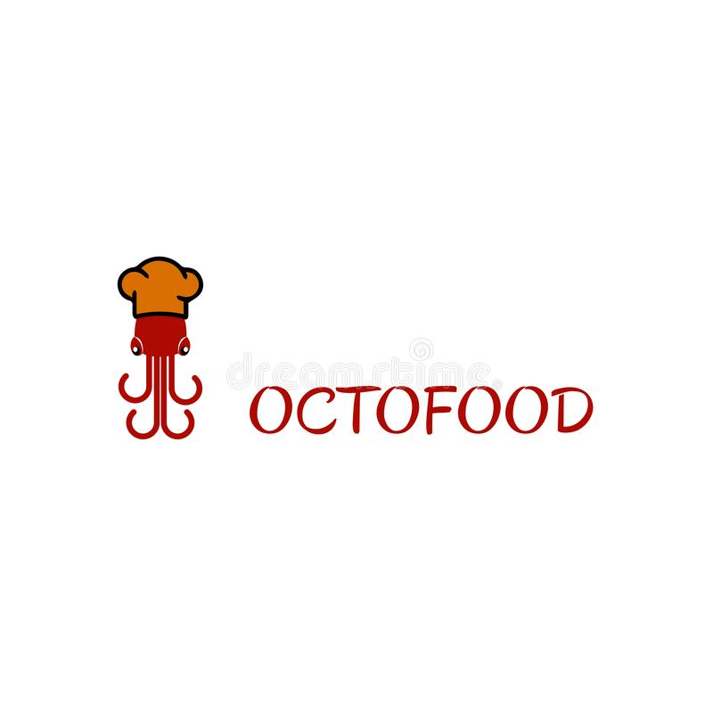 Octofood logo royalty free stock images