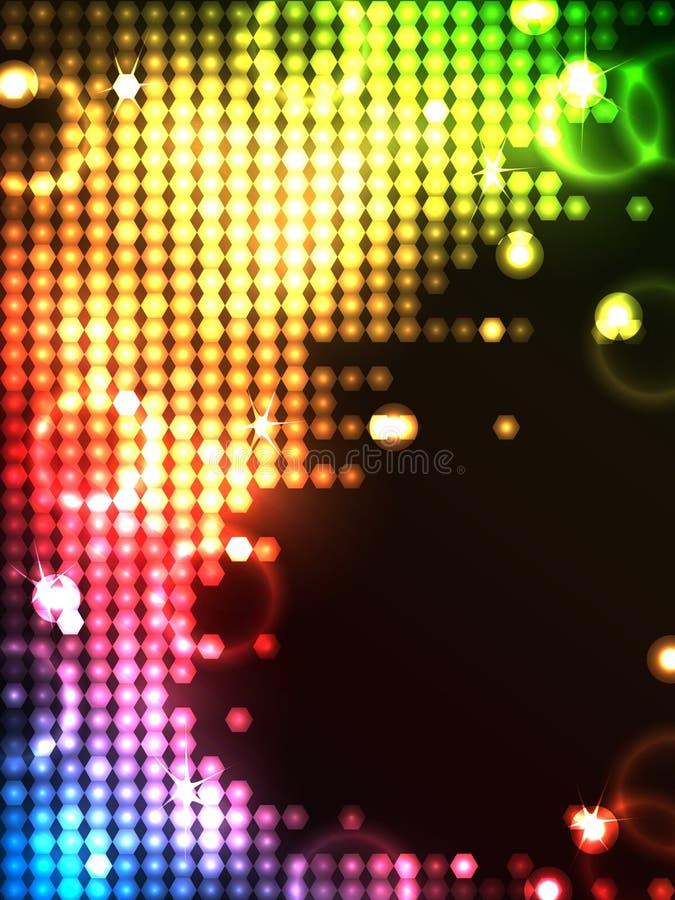 Octogon neon glowing background stock illustration