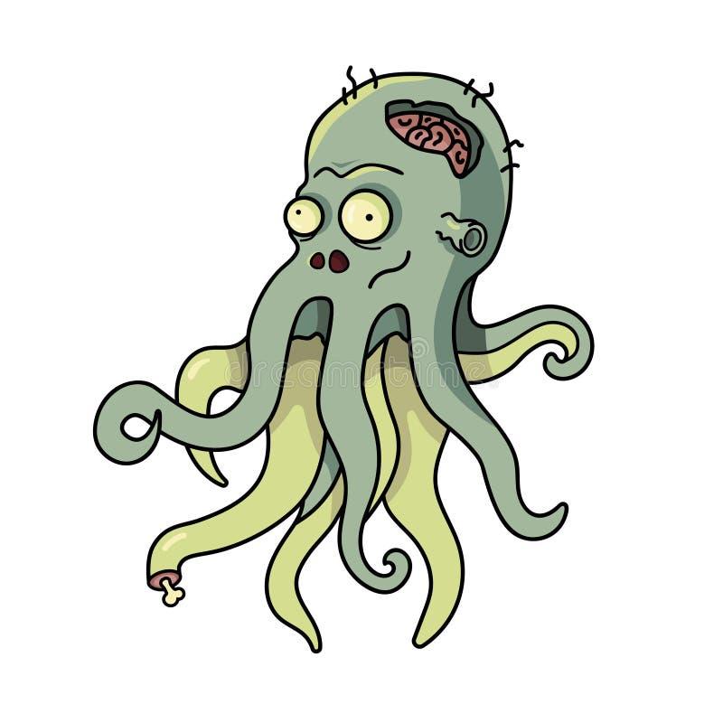 Octopus for halloween royalty free illustration