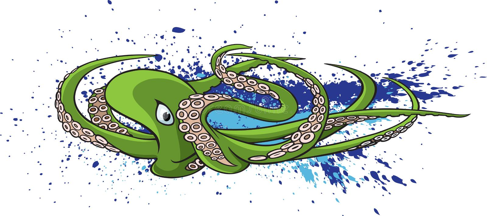 Download Octopus stock illustration. Image of cups, life, squid - 27318204