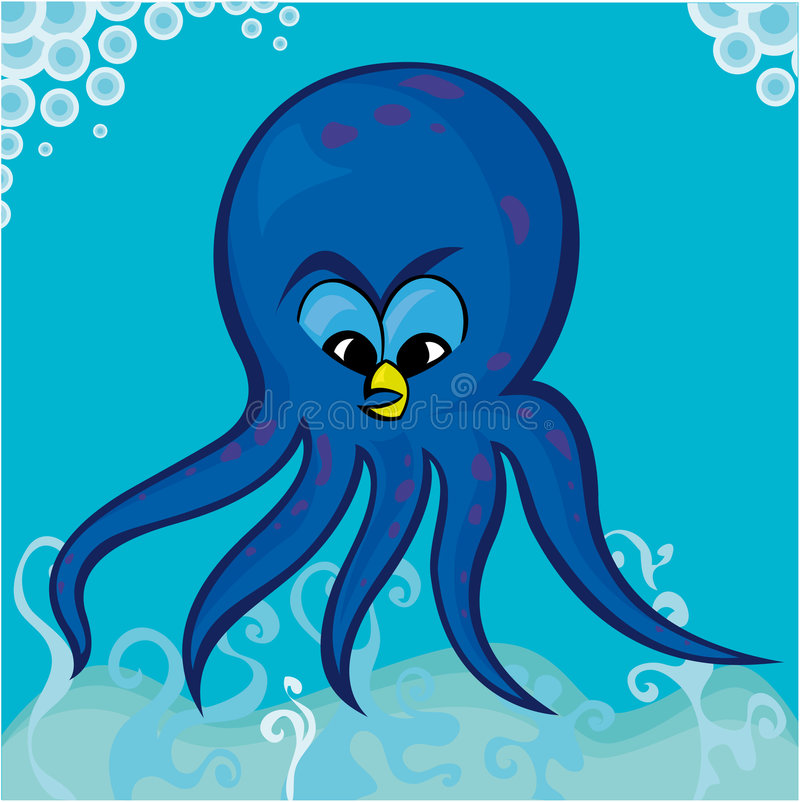 Download Octopus stock vector. Image of diving, fish, guilloche - 4175401