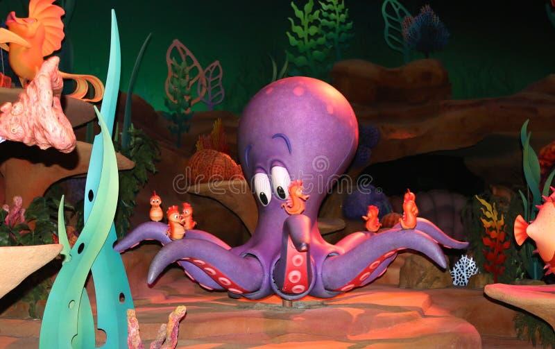Octopus binnen het Magische Koninkrijk van Walt Disney stock foto