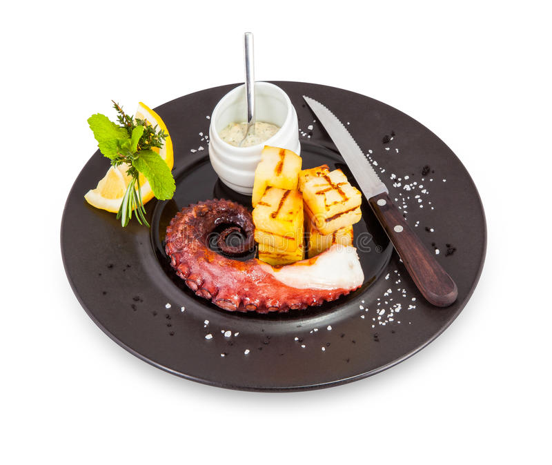 Octopus dish. royalty free stock photo