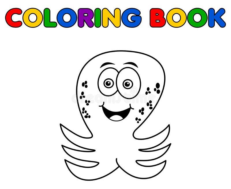 Octopus het vrolijke betekenen het kleuren stock illustratie