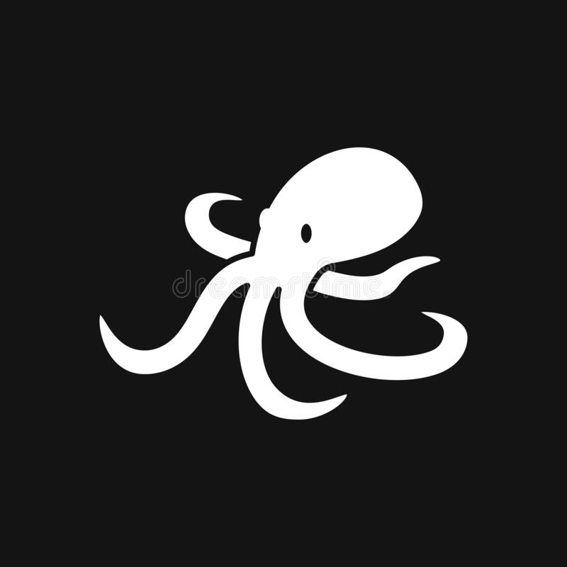 Octopus icon. Vector of an octopus design on white background. Aquatic animals. Octopus icon. Vector of an octopus design on background. Aquatic animals royalty free illustration