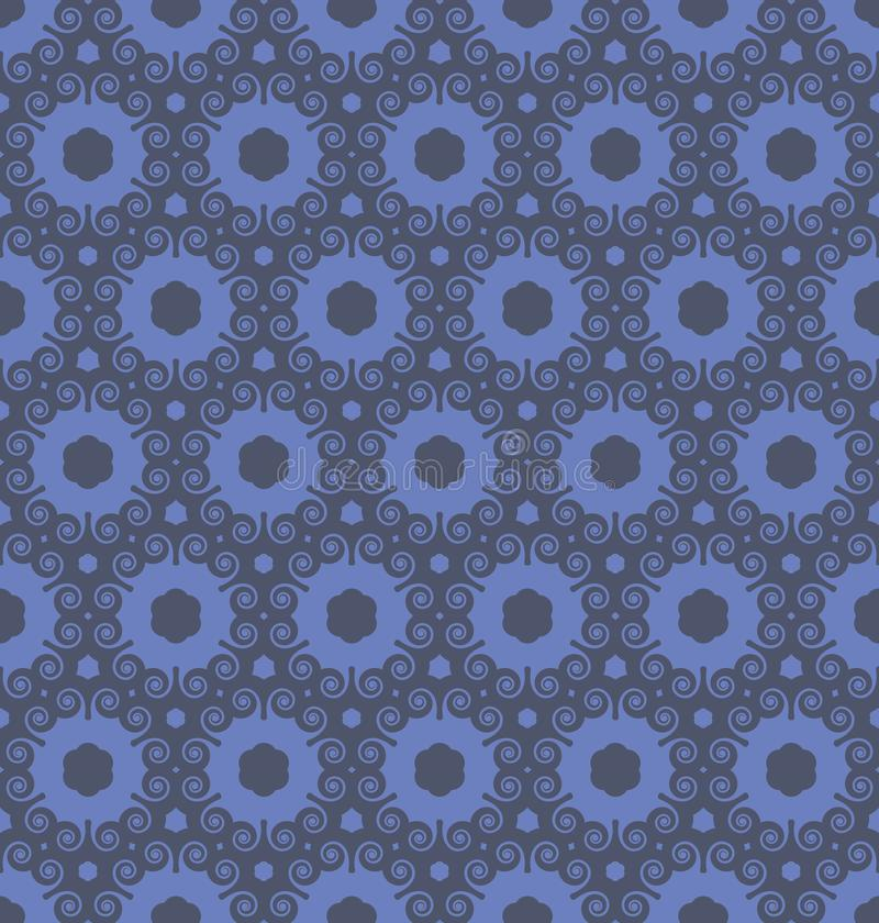 Octopus Inspired Spiral Seamless Repeat Pattern stock image