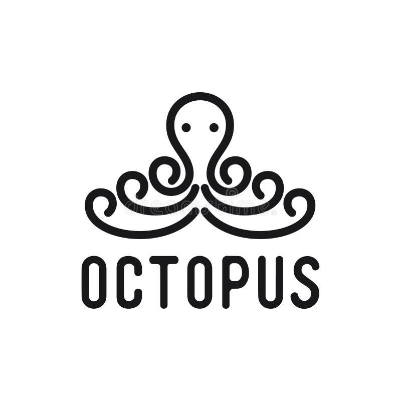Octopus logo ideas design vector illustration stock illustration