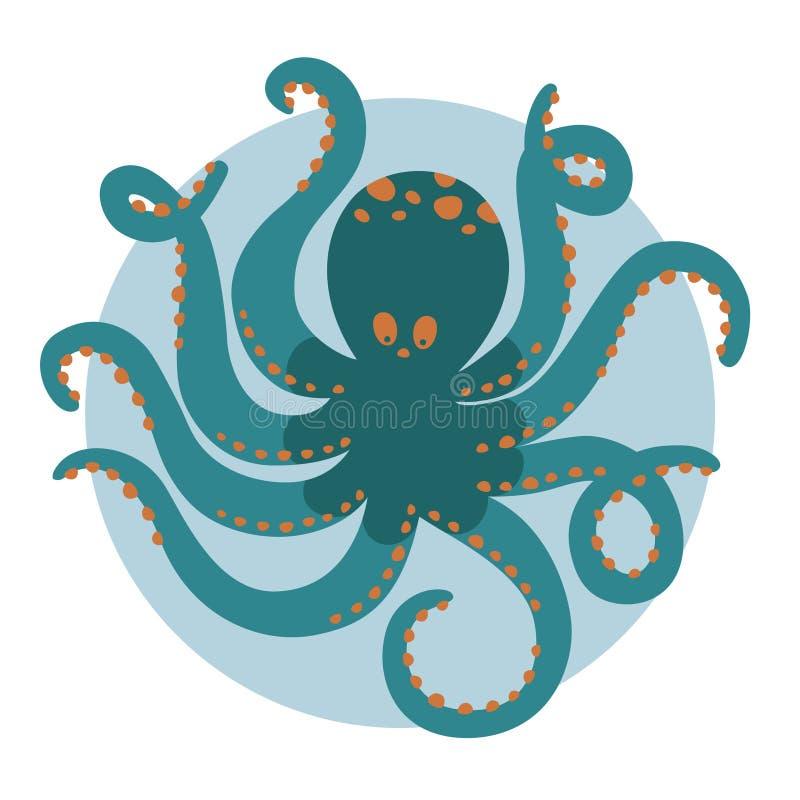 Octopus - op wit wordt geïsoleerd dat stock fotografie