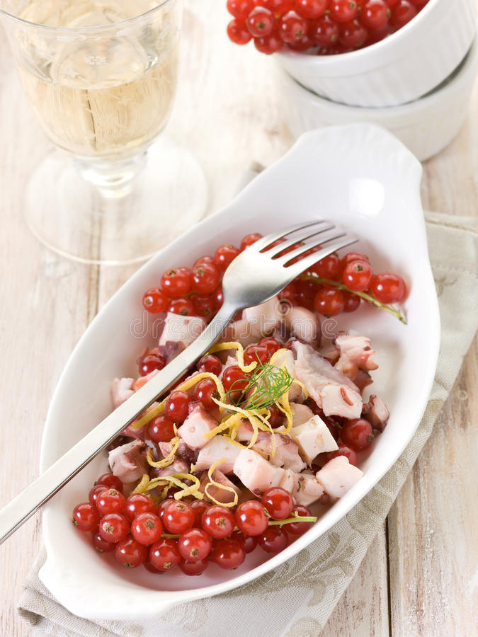 Download Octopus salad stock photo. Image of delicious, leaves - 21105576