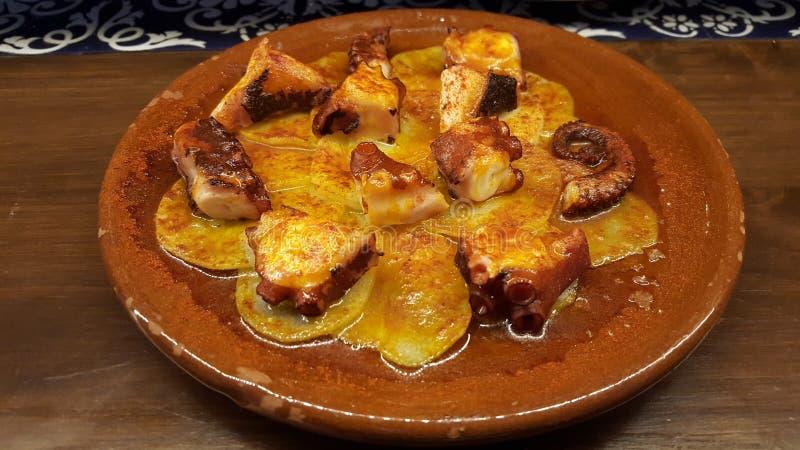Octopus Spanish dish royalty free stock photography