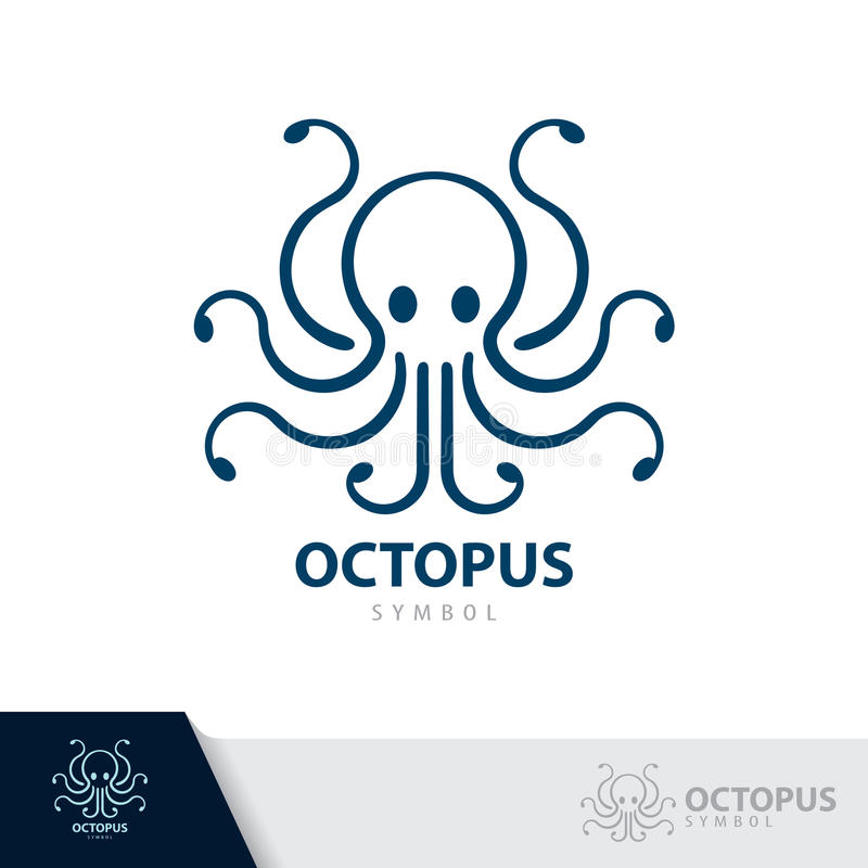 Octopus symbol icon. vector illustration
