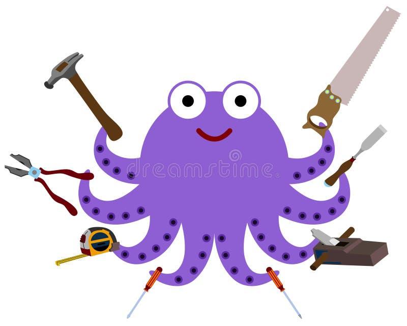 Octopus Tools Stock Illustration