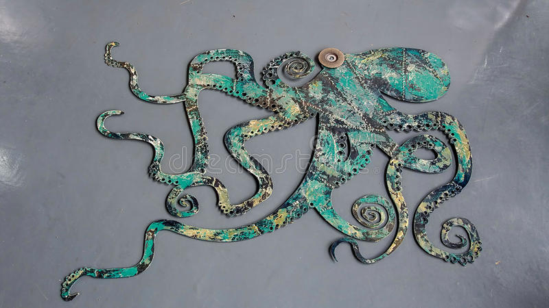 Download Octopus Wall Art Stock Photo. Image Of Artist, Modern   44401258