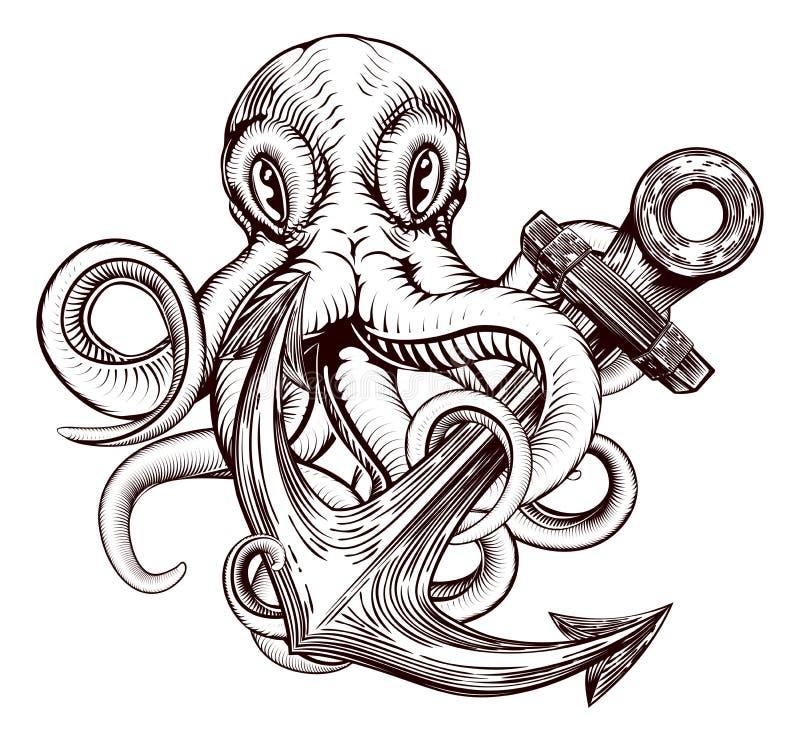 Octopusanker royalty-vrije illustratie
